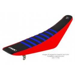 Funda Asiento Negro Lateral Rojo + Costillas Color - RIB - FMX COVERS - Ribs - FMX Covers - 1
