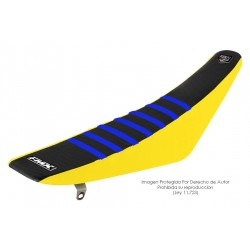 Funda Asiento Negro Lateral Amarillo + Costillas Color - RIB - FMX COVERS - Ribs - FMX Covers - 1